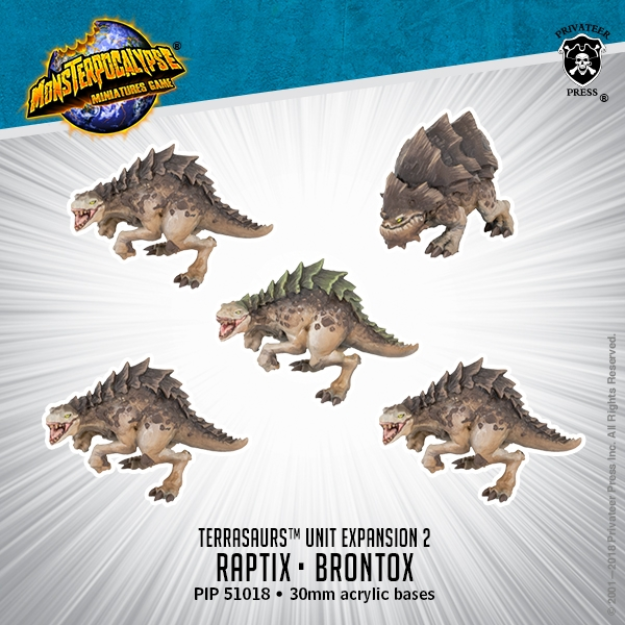 Monsterpocalypse: Raptix & Brontox - Terrasaur Units (metal/resin)