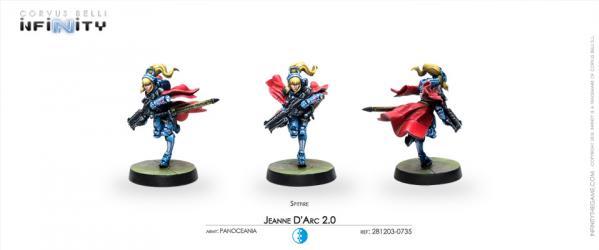Infinity (#735) PanOceania: Jeanne d'Arc 2.0 (Mobility Armor) (SPITFIRE) (1)