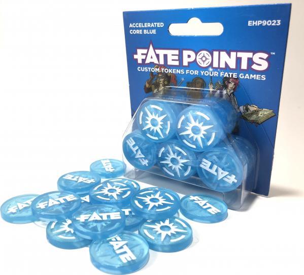 Fate Core RPG: Fate Points - Accelerated Core Blue (30)