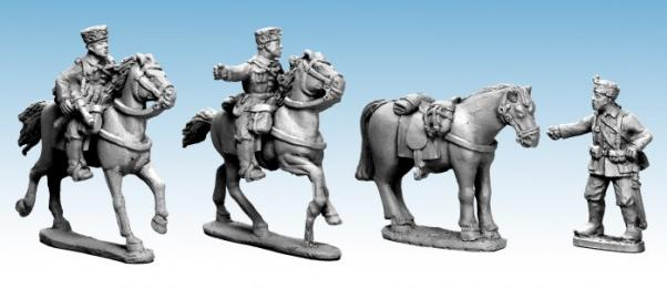 Crusader Miniatures: Mounted Cossack Command (German Service) (4)