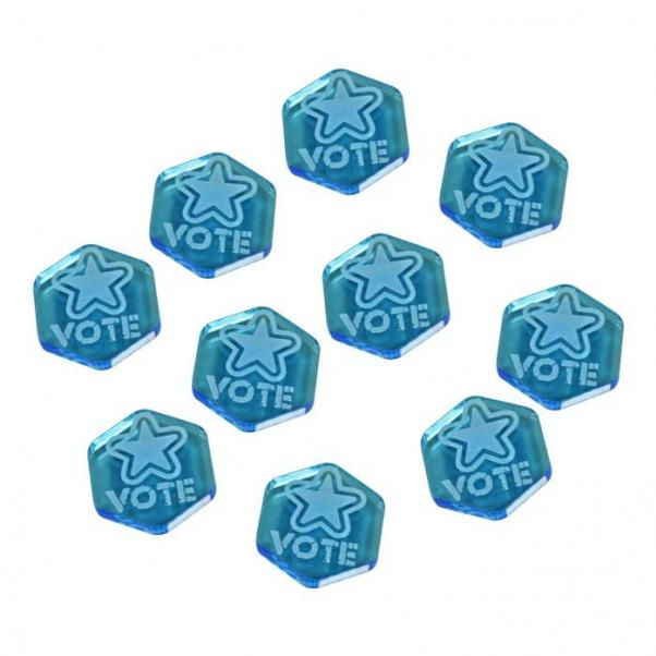 Gaslands: (Accessory) Vote Tokens, Fluorescent Blue (10)