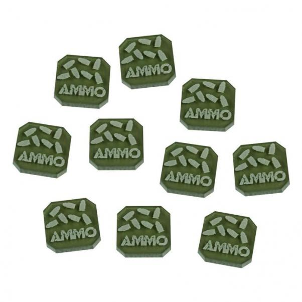 Gaslands: (Accessory) Ammo Tokens Set, Translucent Grey (10)