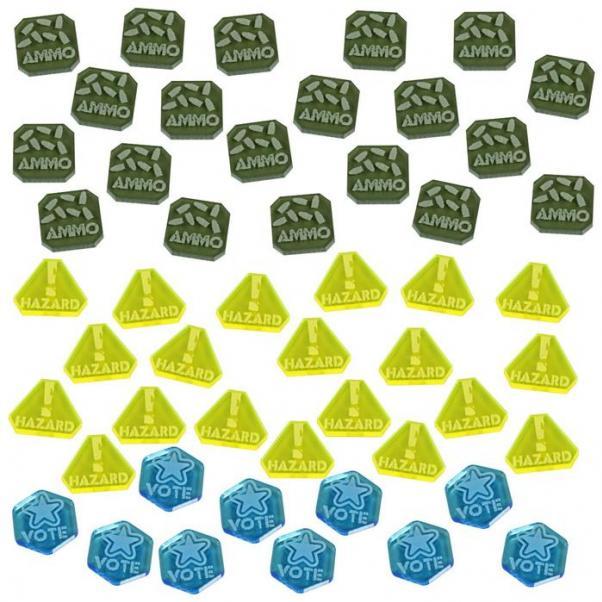 Gaslands: (Accessory) Token Set, Multi-Colored (50)