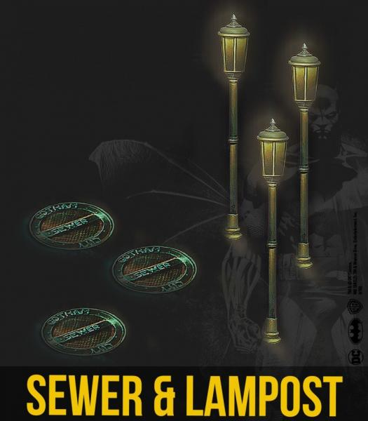 Knight Models: (Accessories) Sewer & Lampost Resin Set