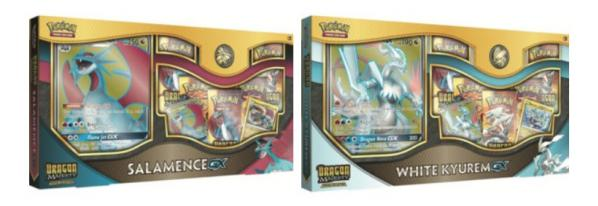 Pokemon CCG: Dragon Majesty Special Collection- Salamence-GX / White Kyurem-GX (1)