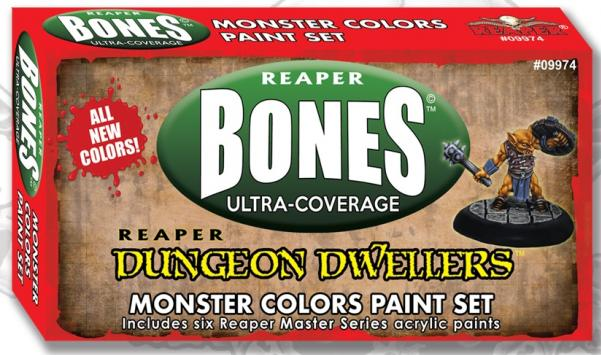 Reaper Master Series: Bones Ultra-Coverage Dungeon Dwellers Paint Set - Monster Colors
