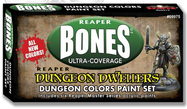 Reaper Master Series: Bones Ultra-Coverage Dungeon Dwellers Paint Set - Dungeon Colors