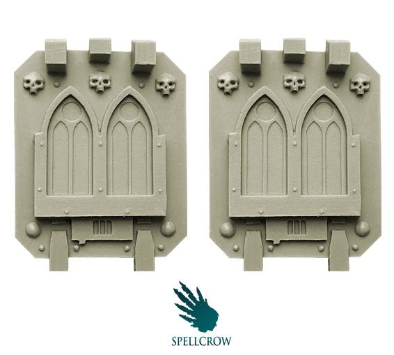 28mm Sci-Fi: (Space Knights) Gothic Doors for Heavy Vehicles