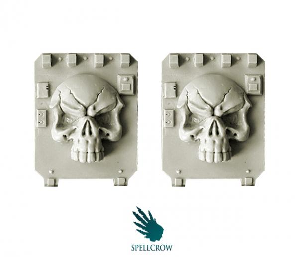 28mm Sci-Fi: (Space Knights) Skull Doors for Light Vehicles