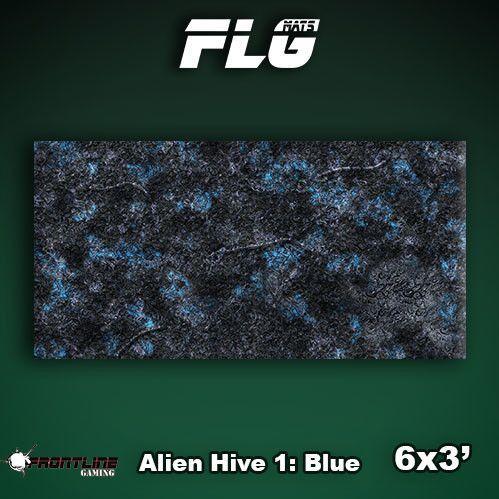 Frontline Gaming Mats: Alien Hive Blue 3x6'
