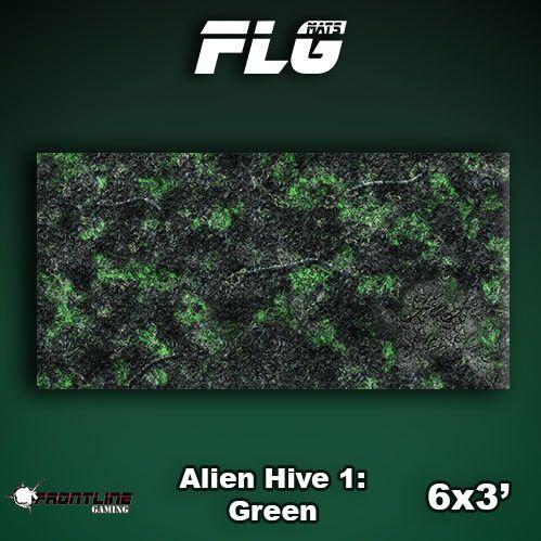 Frontline Gaming Mats: Alien Hive Green 3x6'