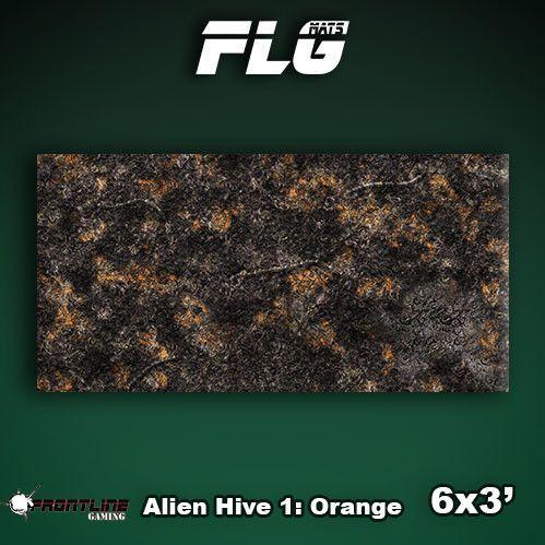 Frontline Gaming Mats: Alien Hive Orange 3x6'