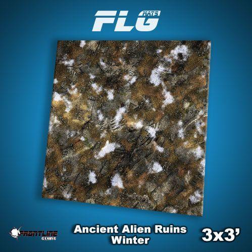 Frontline Gaming Mats: Ancient Alien Ruins Winter 3x3'