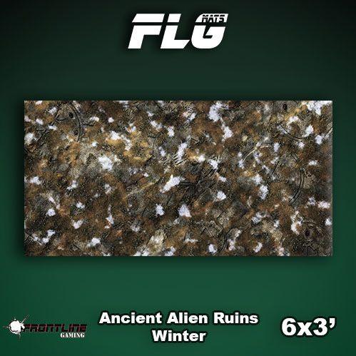 Frontline Gaming Mats: Ancient Alien Ruins Winter 3x6'