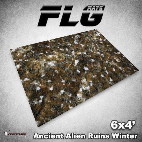 Frontline Gaming Mats: Ancient Alien Ruins Winter 4x6'