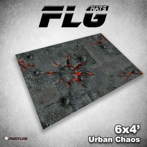 Frontline Gaming Mats: Urban Chaos 4x6'