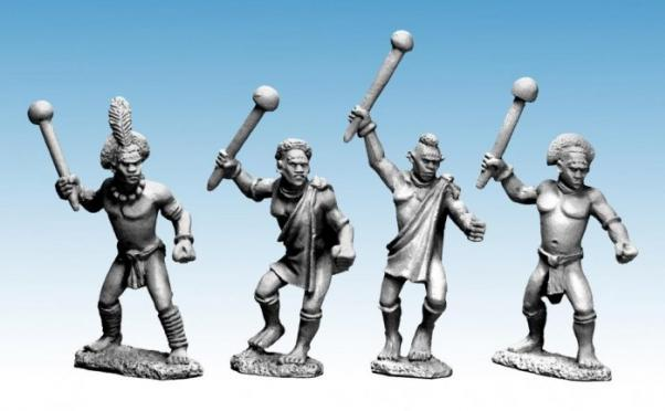 28mm Modern: Darkest Africa - Shilluk Warriors with Clubs