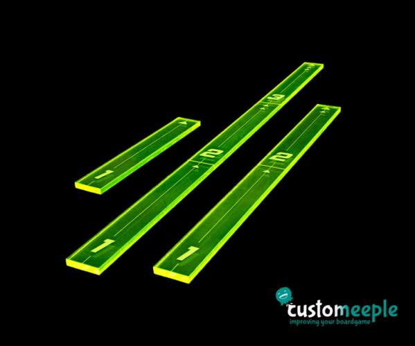 X-Wing 2.0: Xwing compatible fire templates (3) - Green Fluor