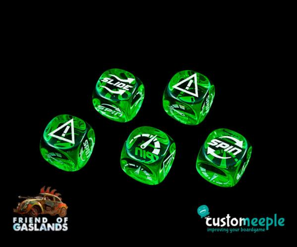 "Gaslands: (Accessory) Gaslands compatible Dice set ""NFS"" (5)"