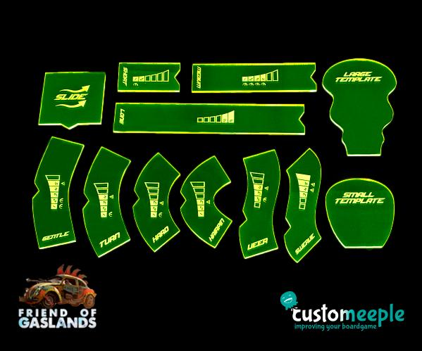 "Gaslands: (Accessory) Gaslands compatible Templates ""NFS"" (12)"