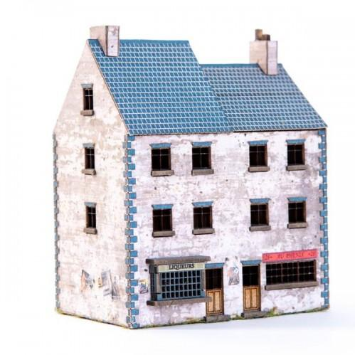 10mm Standard Terrain: Semi-detached House and Shop Set