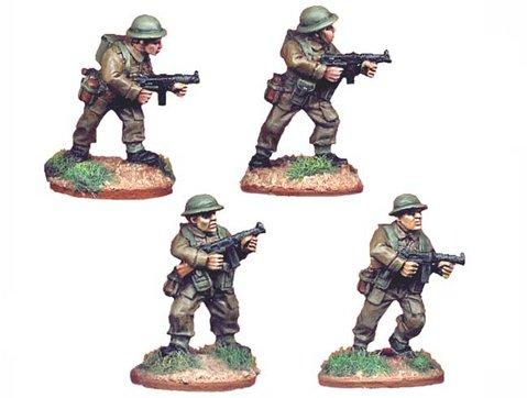 Crusader Miniatures: British Infantry with Thompson SMGs (4)