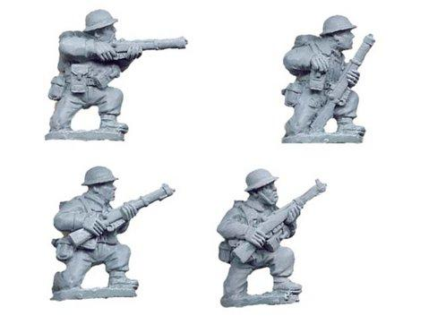 Crusader Miniatures: British Riflemen Kneeling (4)
