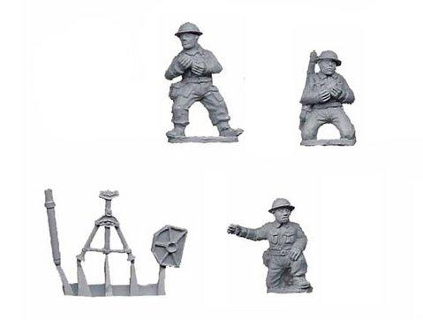 Crusader Miniatures: British 3'' Mortar Pack (1 mortar, 3 crew)