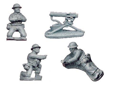 Crusader Miniatures: British Vickers MG (1 MG, 3 crew)