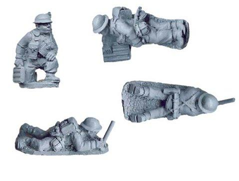 Crusader Miniatures: British 2'' Mortar Teams (4)