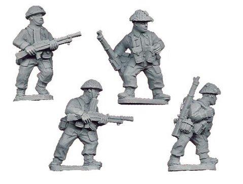 Crusader Miniatures: Late British Bren Gun Teams (4)