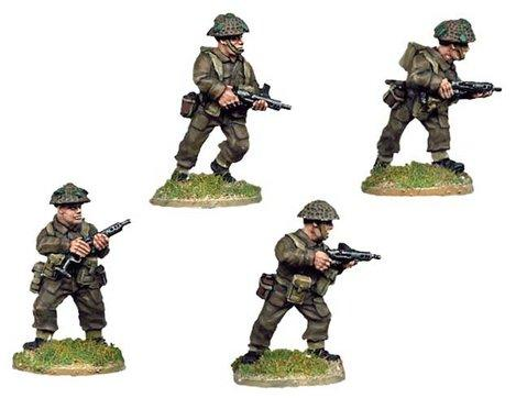 Crusader Miniatures: Late British Infantry with Sten SMG (4)