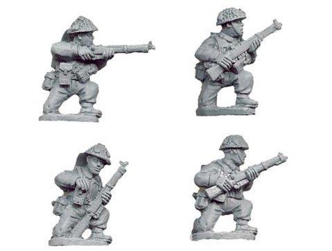 Crusader Miniatures: Late British Riflemen Kneeling (4)