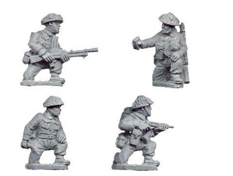 Crusader Miniatures: Late British Command & Bren Teams kneeling (4)