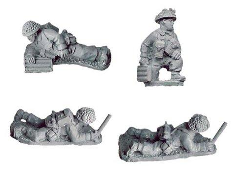 Crusader Miniatures: Late British 2inch Mortar Teams (4)