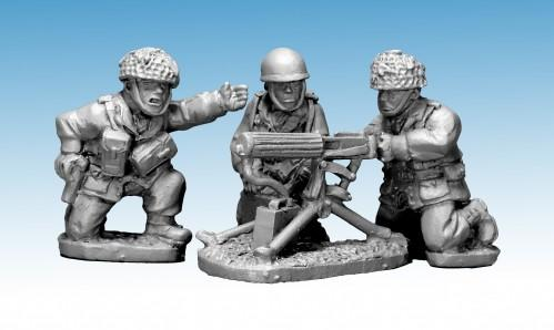 Crusader Miniatures: British paratrooper Vickers MMG & 3 crew