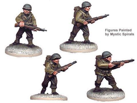 Crusader Miniatures: US Riflemen I (4)
