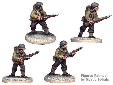Crusader Miniatures: US Riflemen II (4)