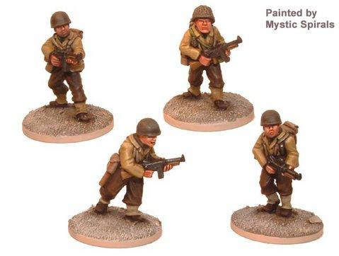 Crusader Miniatures: US Infantry with Thompson SMG (4)