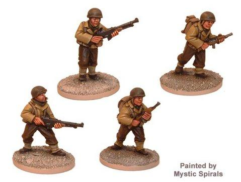 Crusader Miniatures: US Infantry BAR Teams (4)