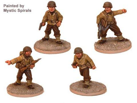 Crusader Miniatures: US Infantry Command (4)