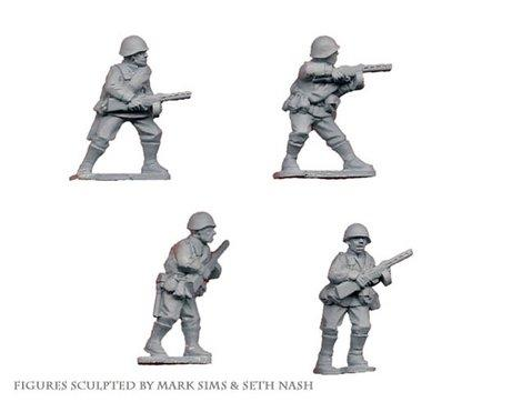 Crusader Miniatures: Russian Infantry with SMG (4)