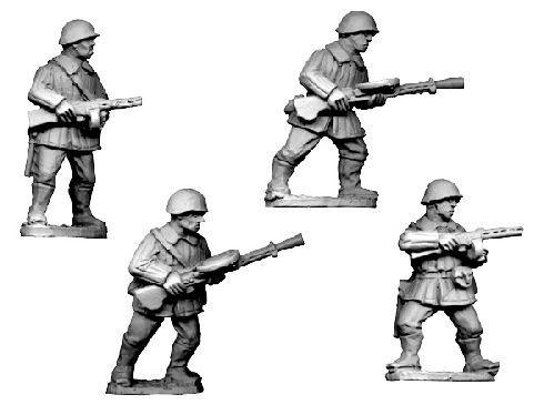 Crusader Miniatures: Russian LMG Teams, Winter Uniform wearing helmets (4)