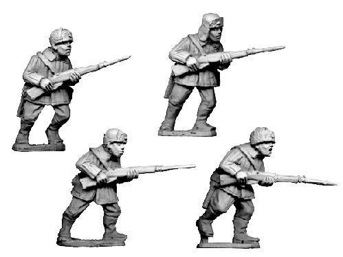 Crusader Miniatures: Russian Infantry, Winter Uniform in fur hats (4)