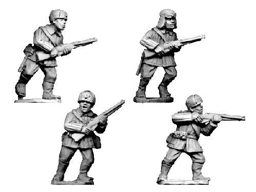 Crusader Miniatures: Russian Infantry, Winter Uniform in fur hats 2 (4)
