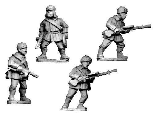 Crusader Miniatures: Russian LMG Teams, Winter Uniform with fur hats (4)
