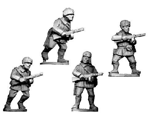 Crusader Miniatures: Russians in winter uniform with SMGs (4)