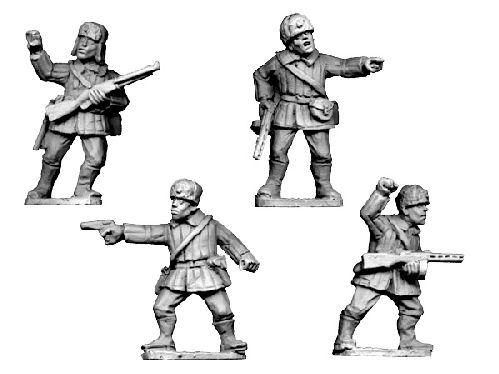Crusader Miniatures: Russian Command Winter Uniform with fur hat (4)