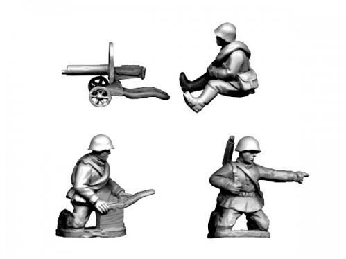 Crusader Miniatures: Russian HMG (4 pcs)