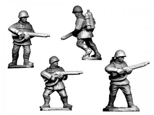 Crusader Miniatures: Russian Flamethrowers (4)